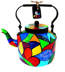 handcrafted u0026 painted color therapy teapot discovered
