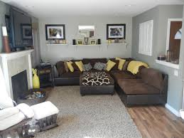 brown and gray living room home design ideas and pictures