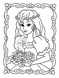 princess portret coloring page for girls for kids coloring pages