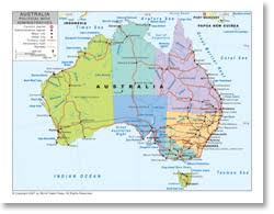 map of australia political political map of australia with provincial state boundaries