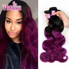 purple hair extensions ombre purple human hair weaves 3 bundles 1b purple wave hair