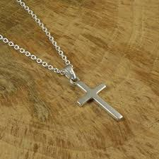 crucifix necklace silver images Personalised silver cross necklace by hersey silversmiths jpg