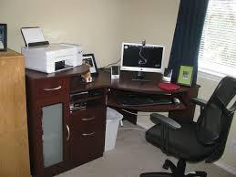 Corner Computer Tower Desk Furniture Small Cherry Wood Corner Desk Cheap L Shaped Computer