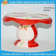 2016 christmas santa cake stand ceramic santa claus cake stand