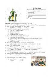 english worksheet elf the movie questions general speaking