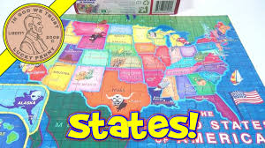 50 States Map With Capitals by The 50 United States Of America 60 Piece Jigsaw Puzzle 2011 Lpf
