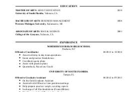 Sports Resume Examples by Coaches Trainers And Scouts Resume Examples Sports Resumes