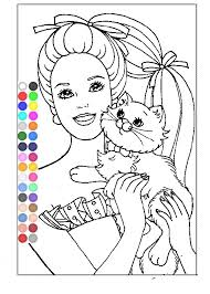 free barbie coloring pages girls barbie coloring