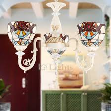 Affordable Chandelier Lighting Affordable 3 Light Stained Glass Shade Chandelier Lighting