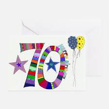 70th Birthday Cards 70th Birthday 70th Birthday Greeting Cards Cafepress
