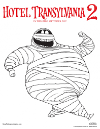 murray hotel transylvania coloring page coloring pages