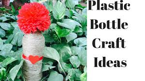 plastic bottle and natural craft home decor diy easy home