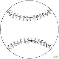 baseball ball coloring page free printable coloring pages