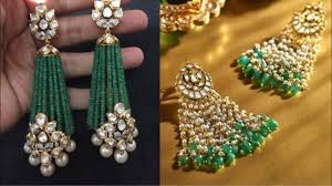 latkan earrings beautiful kundan earrings with moti latkan new earrings design