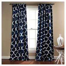 Navy Blue Curtains Geo Blackout Curtain Panels Set Of 2 Target