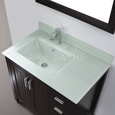 Glass Bathroom Sinks And Vanities Bathroom Sink Glass Top Vanity Bathroom On Espresso Solid Wood