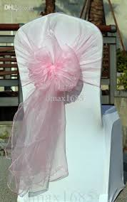 pink chair sashes big sash light pink organza chair sashes wedding chair hoods