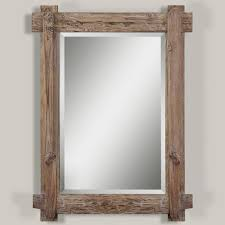 rustic walnut mirror walnut stain woods and lights