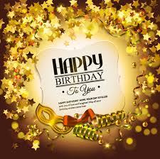 golden birthday cards golden happy birthday card birthday greeting