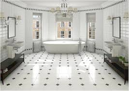 Bathroom Floor Tile Designs Cool Black And White Bathroom Decor For Your Home