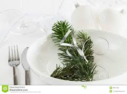 White Christmas Dinner Ideas by White Christmas Dinner Table Royalty Free Stock Images Image