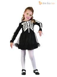 girls skeleton toddler costume for halloween fancy dress