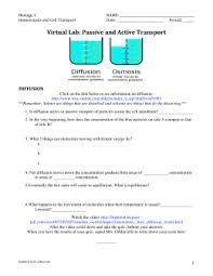 diffusion osmosis virtual lab