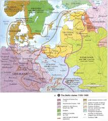 Baltic States Map The Hanseatic League In The Eastern Baltic