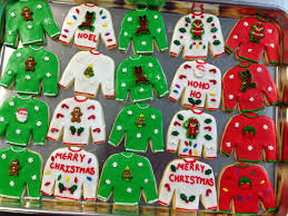 sweater cookies alfresco the 12 days of cookies day five
