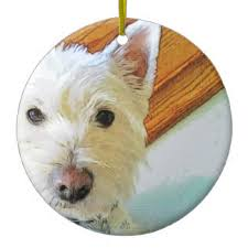 west highland terrier tree decorations ornaments