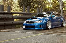 subaru wrx slammed subaru impreza wrx wrd world rally blue bbs rs wheels custom step