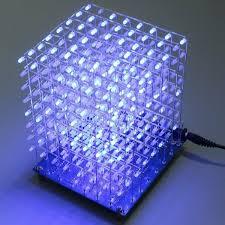 led cubes geekcreit 8x8x8 led cube 3d light square blue led electronic diy