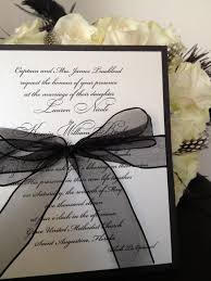 simple elegance black and white wedding invitation by