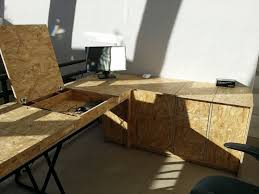 bureau en osb 11 best bureau images on desks desk and wood office desk