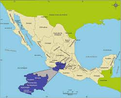 Map Of Michoacan Mexico by Michoacan Mexico Mapa