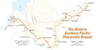 Map Sacramento The Historic Placerville Branch Placerville U0026 Sacramento Valley