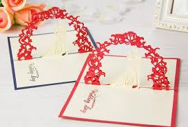 5pcs lot 3d pop up greeting card diy drawing wedding design