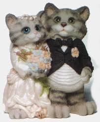 cat wedding cake topper s cat wedding cake topper