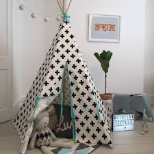 wildfire kids teepee in crosses with seafoam trim playhouses