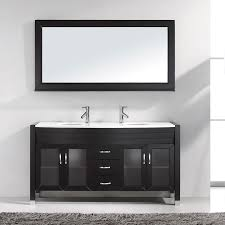Virtu Bathroom Vanity by Shop Virtu Usa Ava Espresso Integrated Double Sink Bathroom Vanity