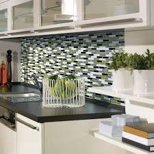 peel and stick kitchen backsplash smart tiles peel and stick backsplash to go with green modern kitchen