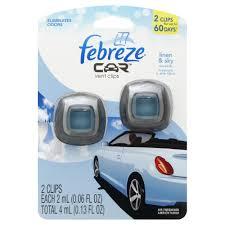 febreze air freshener vent clips linen u0026 sky 2 0 06 fl oz 2