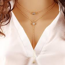 double necklace style images 2018 wholesale summer style fashion jewelry double link chain jpg