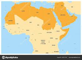 arab map arab world states political map with orange higlighted 22 arabic