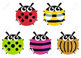 various bugs collection vector cartoon illustration royalty free