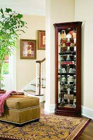 curio cabinet glass corner display cabinet curiory tall leaded