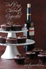 Wine Chocolate Red Wine Chocolate Cupcakes With Red Wine Glaze Overtime Cook