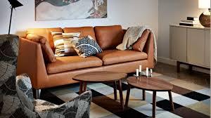 canap brun quelles couleurs associer avec un canapé en cuir brun