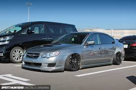 subaru legacy stance park up and get hunted speedhunters