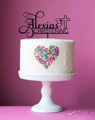 baptism cake toppers buy custom christening cake toppers personalised baptism cake
